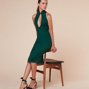 REFORMATION Jute Dress Emerald Medium